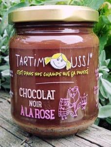 Tartimouss au Chocolat noir à la Rose